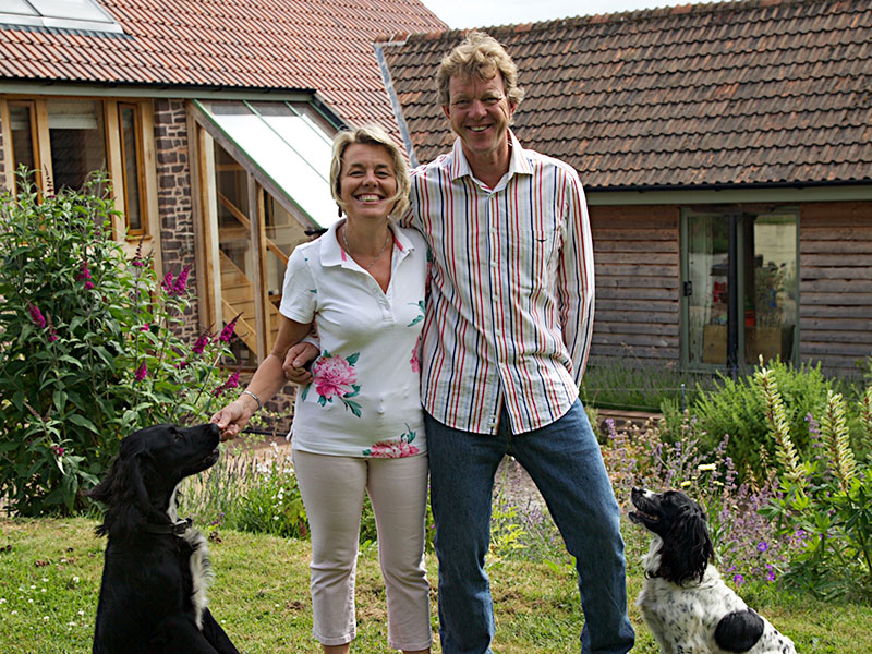 Julie & John with their dogs